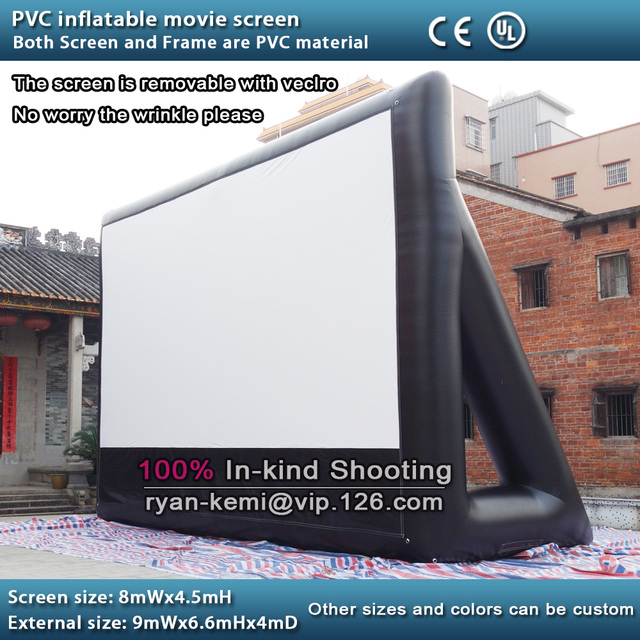 Full PVC inflatable movie screen giant outdoor inflatable movie ...