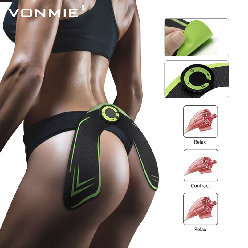 Intelligent Fitness Hip Trainer Butt Push Up Buttock Lifter Enhancer Pad Electric Muscle Stimulator Abdominal Exercise Machine Slimming Belt Fitness & Body Building