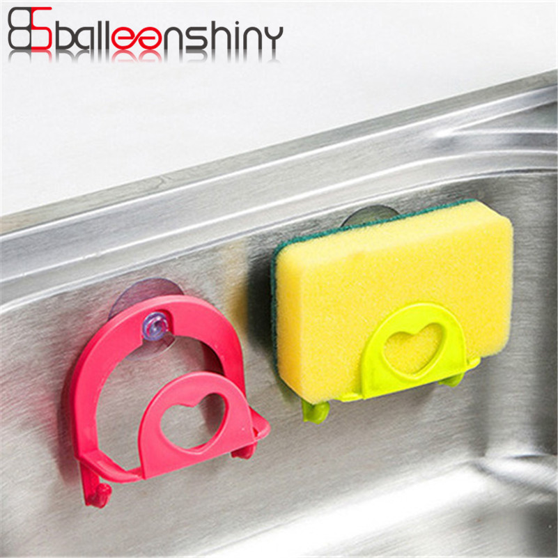 BalleenShiny Soap Holder Rack Suction Cup Bathroom Tool Kitchen Sink Accessory Sponge Shelf Organizer Hanger 2017 New Arrivals