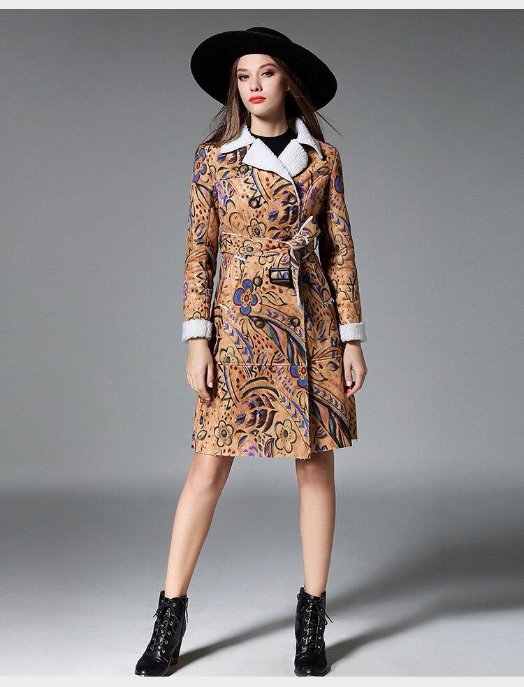 gamuza mujer abrigo imitación de cuero de Chaqueta de de lambswool Xw4Rxgzgn