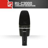 YUEPU C3000 Professional Condenser Microphone 38mm Large Diaphragm High Sensitivity Studio Stage 48V Phantom Power High