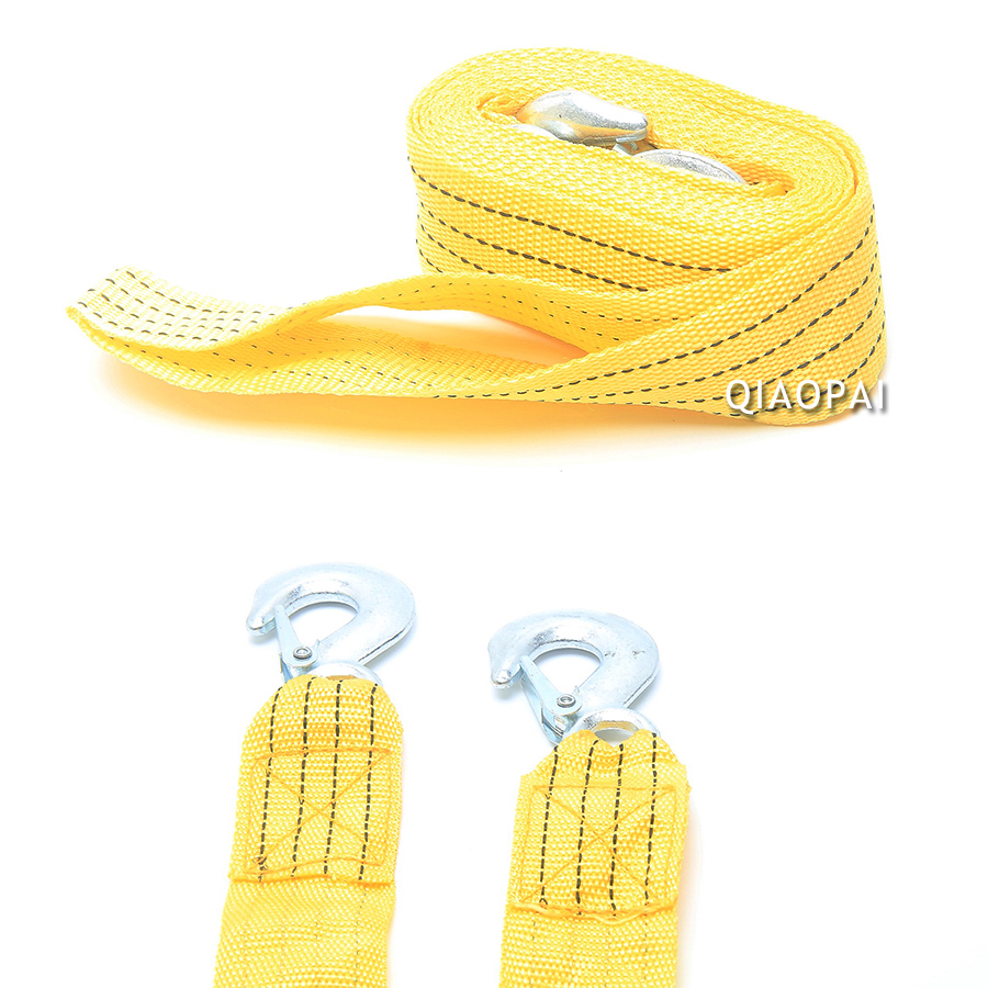 Universal 4m 3 Ton Car Synthetic Tow Rope Vehicle Pulling Hooks Boat Harness Traction Winch For Cross Country Emergency Outdoor In Towing Ropes From