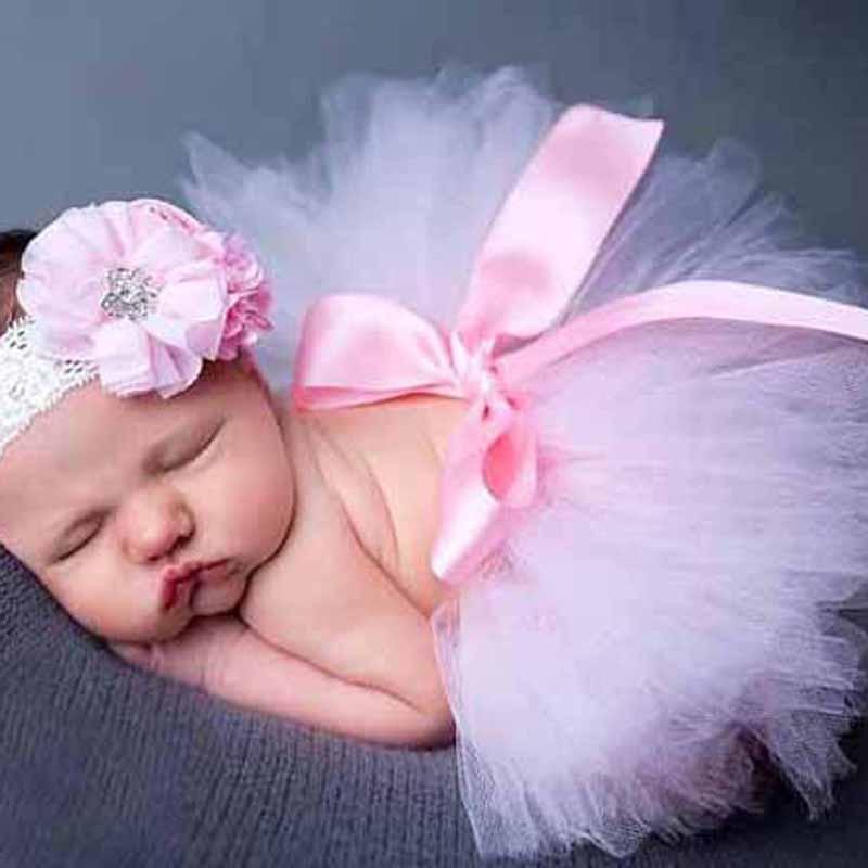 41fdcbc62 € 3.1 30% de DESCUENTO|Tutú de bebé falda recién nacido Tutus niños regalos  cumpleaños disfraces Tutus para niñas fotografía accesorios de la ...