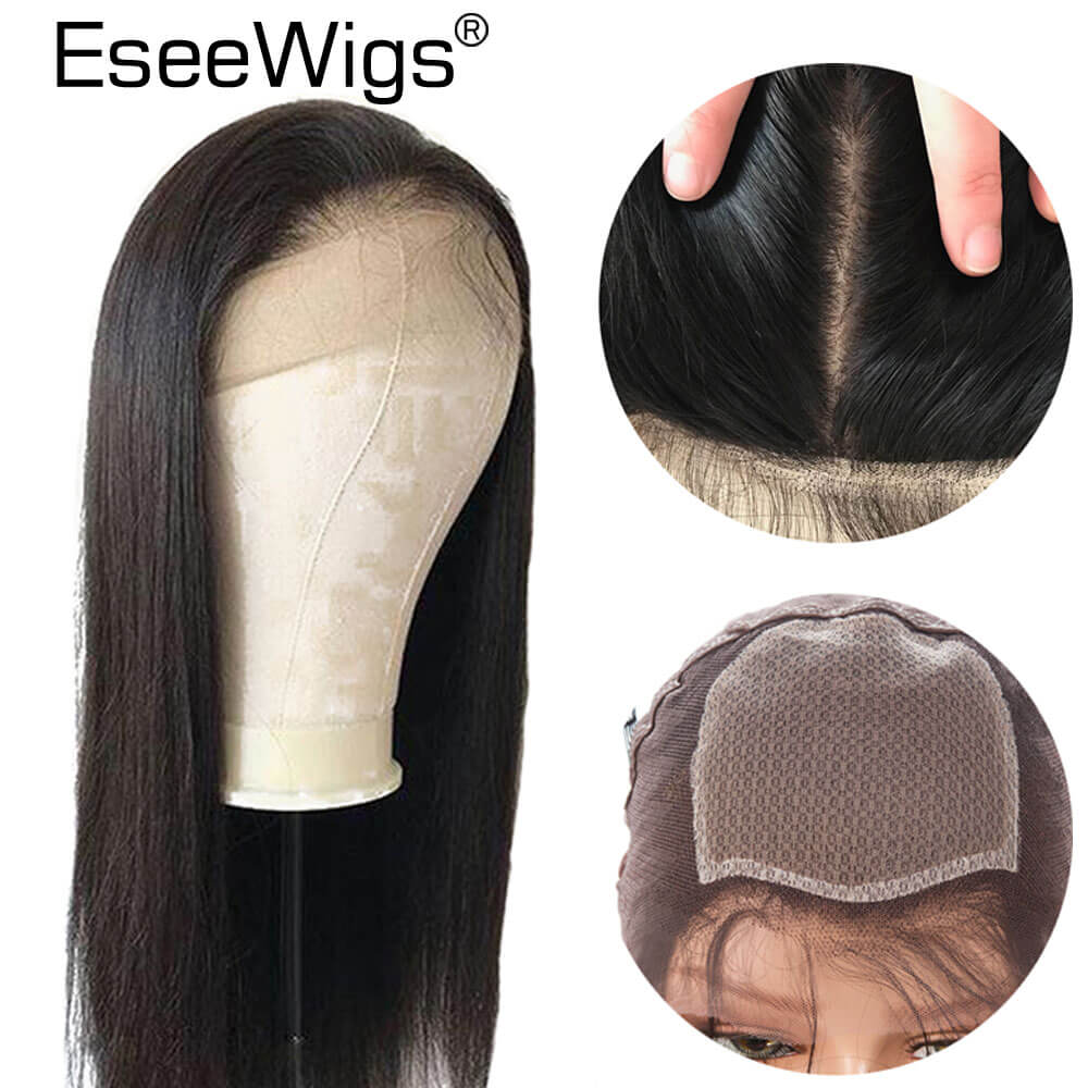 Eseewigs Silk Base Wigs Pre Plucked Hairline With Baby Hair Brazilian Remy Hair Silk Top Silky Straight Full Lace Wigs For Women