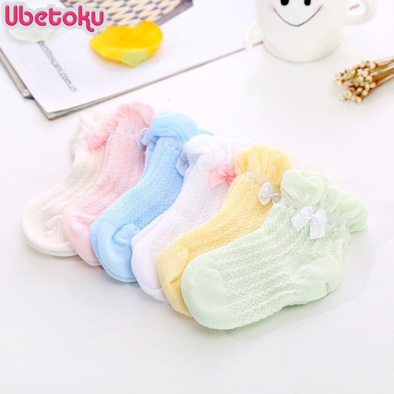 Ubetoku Summer new baby girls mesh Socks children candy color socks thin section Kids socks