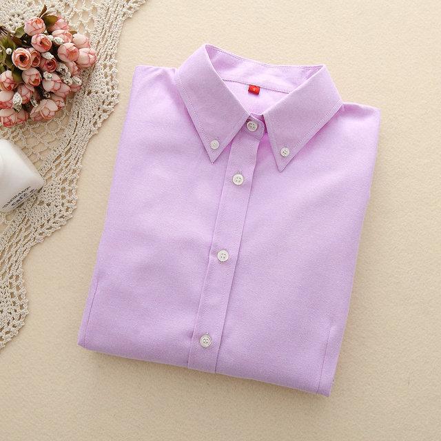 FEKEHA Women Blouses 2019 Long Sleeve Oxford Ladies Tops Office Long Sleeve Shirts Women Student Blusas Camisas Mujer 3