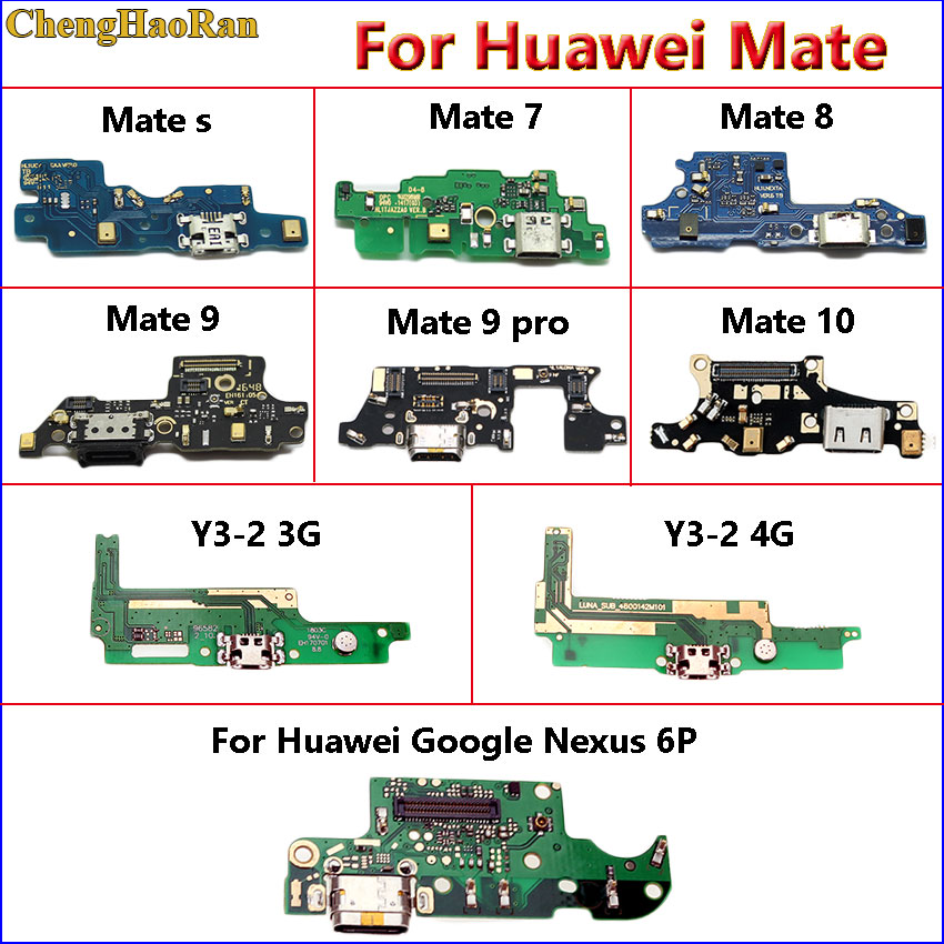 ChengHaoRan For Huawei Mate S 7 8 9 10 9pro Y3-2 3G 4G Google Nexus 6p USB Jack Dock Plug Connector Charge Port Board Flex Cable