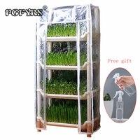 NEW Creative Mini Desktop Greenhouse gardening pots and baskets plastic planter plastic pot box flower shelf Planting nursery