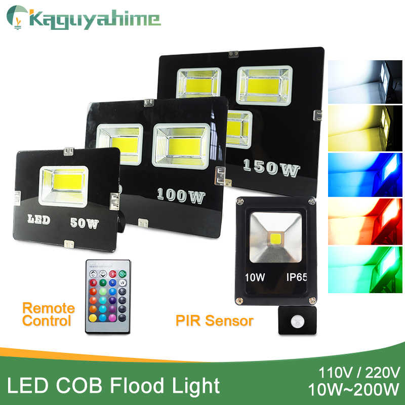 LED Flood Light Outdoor 10W 20W 30W 50W 100W 150W 200W led floodlight Wall lamp IP65 Waterproof Garden  220V 110V RGB Lighting