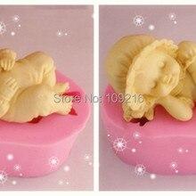 2 шт./компл. 3D Спящий ребенок(FM342/343) Силиконовая ручная работа помадка/торт домашний Декор Плесень