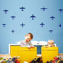 Children's room wall sticker aircraft baby real background air plane design wall sticker for kids gift(China)