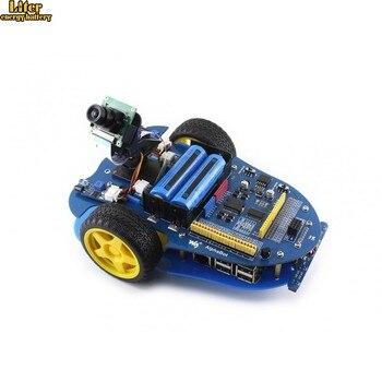 AlphaBot-Pi Raspberry Pi robot building kit: Original Raspberry Pi 3 Model B+AlphaBot +Camera,with US/EU power adapter