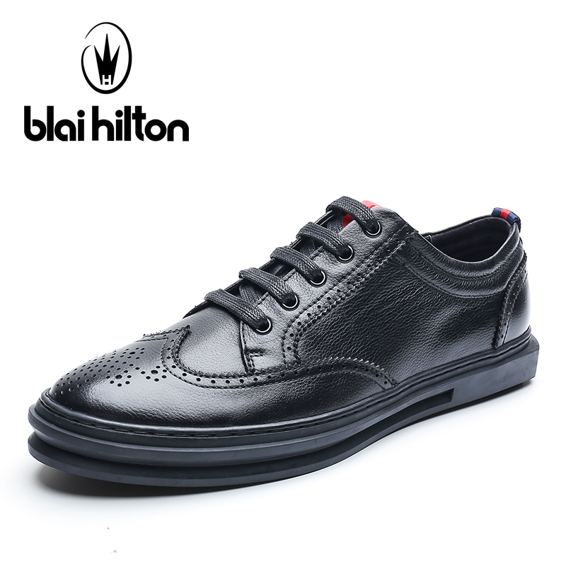 blaibilton Mens Shoes Brogue Classic Genuine Leather Fashion Male Footwear men casual shoes Luxury Designer Breathable SD7090 blaibilton brand winter warm velvet high top men casual shoes luxury genuine leather male footwear fashion designer mens sd3599