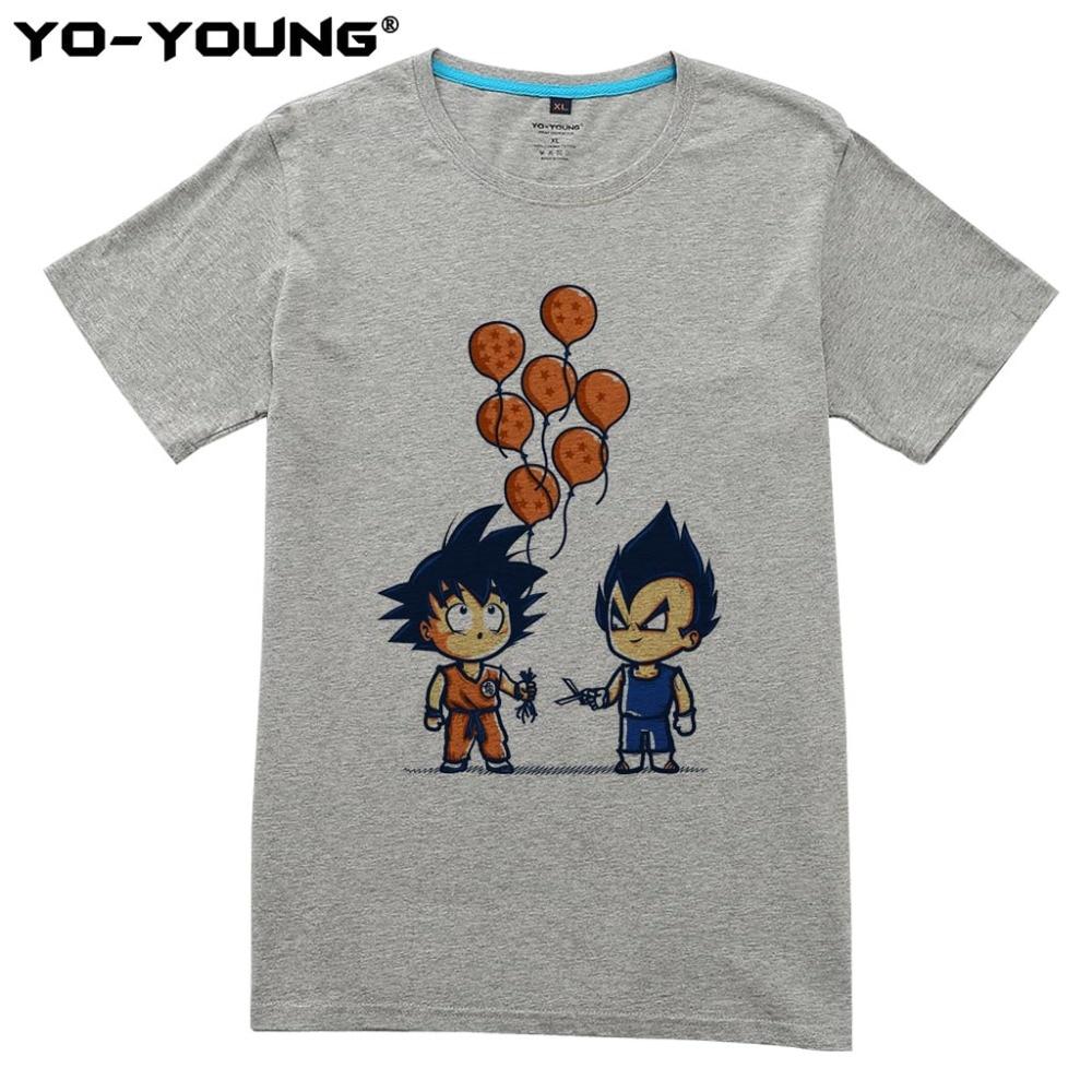 Nyaste Anime Dragon Ball Printing Men T-shirts Goku Vegeta Funny - Herrkläder - Foto 2