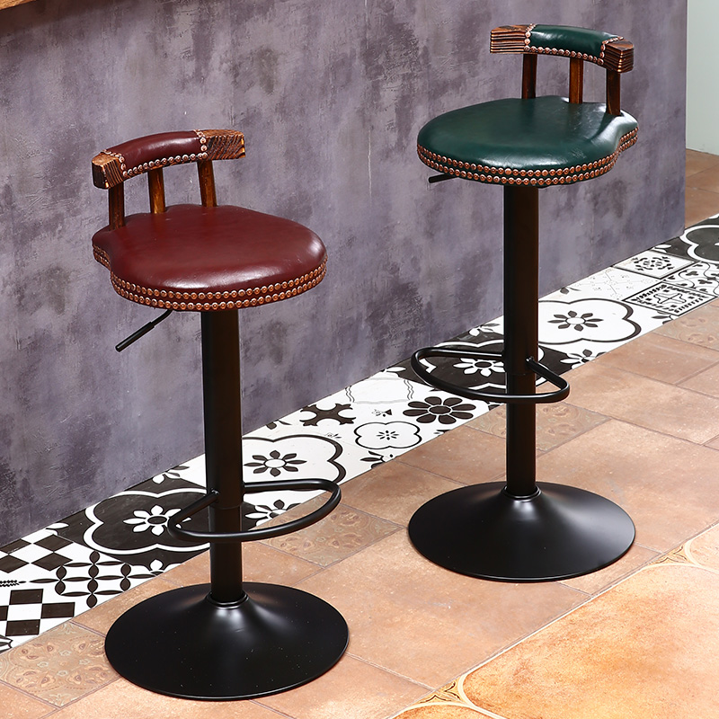 Bar stool modern minimalist home wrought iron high stool bar stool bar chair American lift backrest chair stool