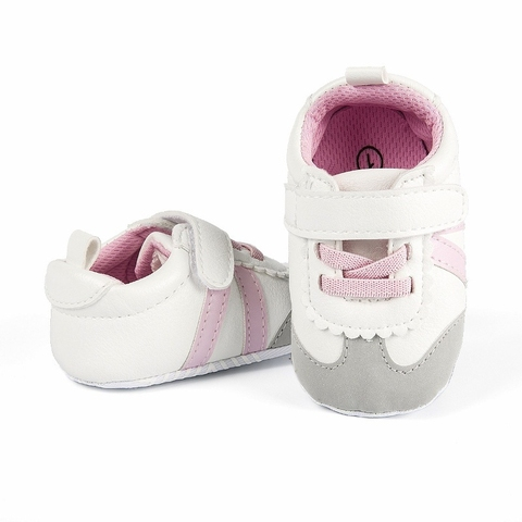 Newborn Baby Boys Girls Sports Shoes First Walkers Toddlers Casual PU Sneakers Sports Running Hook Loop Shallow Shoes 0-1Y Karachi