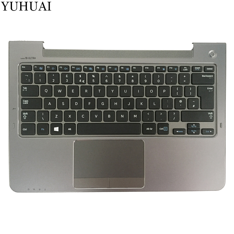 NEW UK For Samsung NP530U3C NP530U3B NP535U3C NP540U3 NP532U3C NP532U3A UK laptop keyboard gray palmrest cover крепление для жк дисплея ноутбука for samsung samsung 5 np530u3b np530u3c np532u3c np532u3x np535u3c np535u3b ba75 03780a np530 np535 np535u3b np530u3b np530u3c np532u3c np532u3x np535u3c