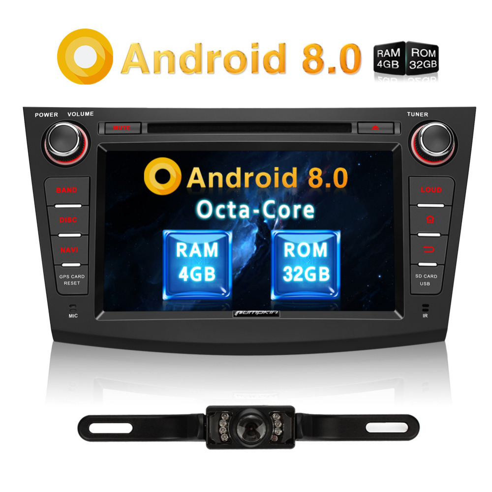 US $391 84 32% OFF|Pumpkin 2 Din 8''Android 8 0 Car DVD Player GPS  Navigation Car Stereo For Mazda 3 2009 2012 Wifi 4G OBD2 FM Rds Radio  Headunit-in