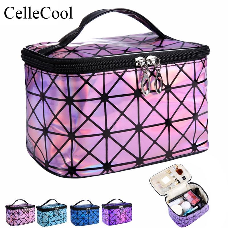 636fc6ab138b5a eTya Fashion Travel Women Clear Transparent Cosmetic Bag Small Large PVC  Necessary Makeup Bag Case Bath Wash Organizer Set Pouch