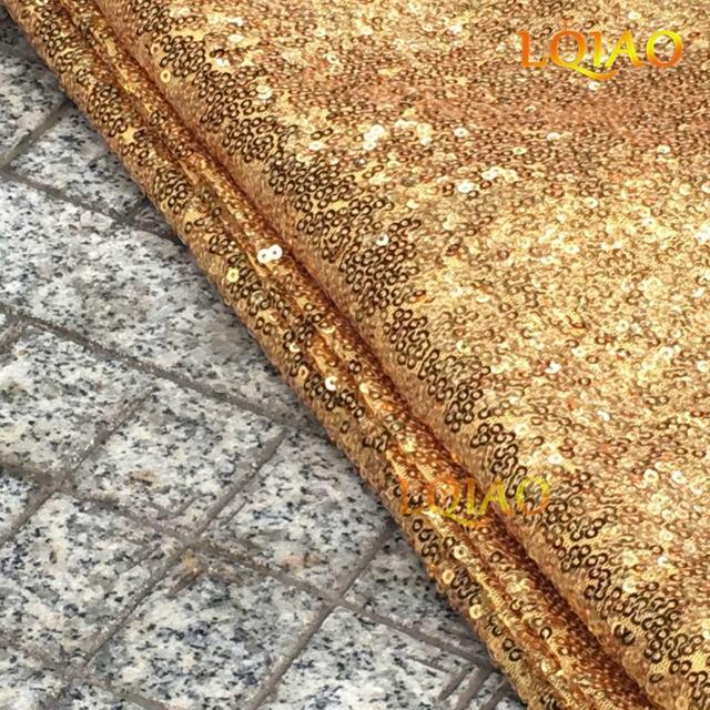 Online Shop Wholesale Cheap 50 Yards Glitter Gold Sequin Fabric ...