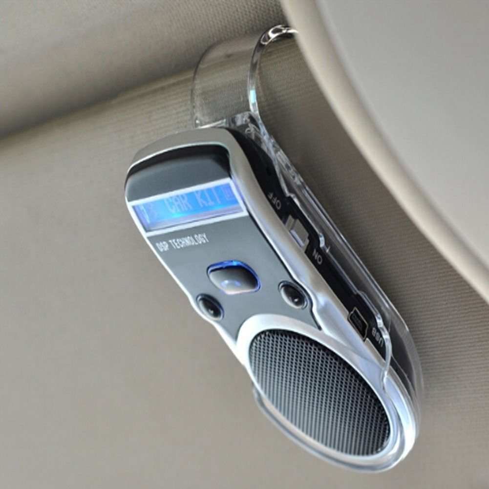 Solar Powered LCD Display Bluetooth Car Kit Handsfree Calling Device Speaker