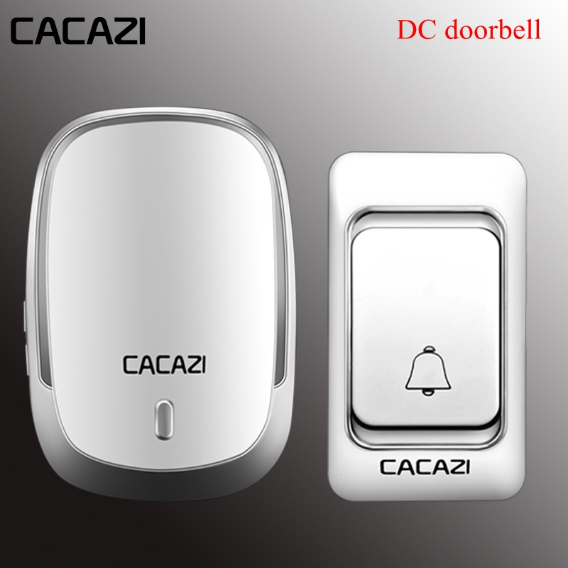 Beautiful Cacazi Wireless Doorbell Dc Battery Operated Control Button 200m Remote Led Light Home Cordless Call Bell 4 Volume 36 Chime Fine Quality Access Control