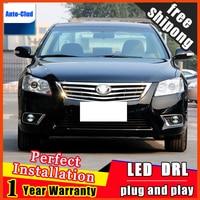 Car styling LED Fog Light For Toyota Highlander LED Fog lamp with lens and LED Day Time Running Ligh DRL Car 2 function