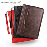 Universale For Apple iPad Air 1/2/Pro 9.7 2016 Leather Case Stand Flip Cover For iPad 9.7 2017 Tablet Shell Capa+Strap+Stylus