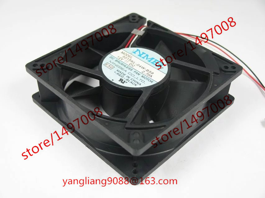 NMB-MAT 5015KL-04W-B59, E50 DC 12V 1.0W     127X127X38mm  Server Square  Fan nmb mat 3110kl 04w b49 b02 b01 dc 12v 0 26a 3 wire server square fan