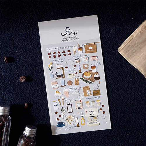 سونيا أحب القهوة رصاصة مجلة ملصق سجل القصاصات الديكور البلاستيكية القرطاسية ملصقات صناعة يدوية مدرسة مكتب التموين
