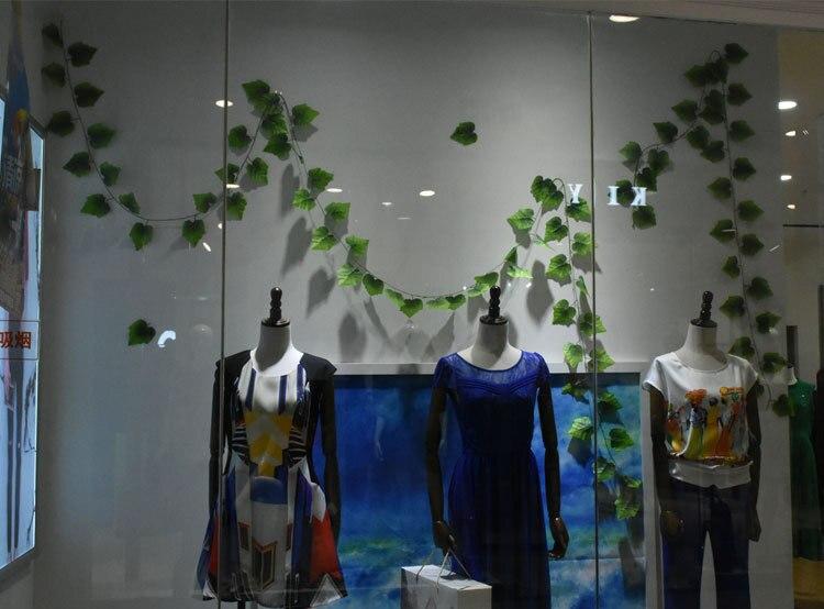 10 стилей, 1 шт., искусственные украшения, яркие Листья лозы из ротанга, влагалище, трава, растения, листья винограда для дома, сада, вечерние, декор B1015