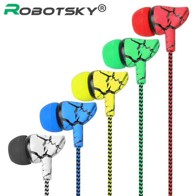3.5mm Super Bass Wired Earphone Crack Sports Eudbuds Stereo In-ear Earpieces for Samsung Xiaomi Huawei Computer