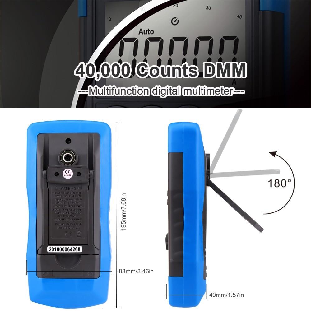 Multimetro HoldPeak HP-770D Auto Range Multimetr cyfrowy True RMS / - Przyrządy pomiarowe - Zdjęcie 4