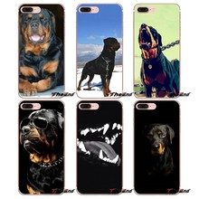 Rottweiler Puppies Dog Cell Phone Shell Case For Huawei Honor 7X V10 6C V9 6A Play 9 Mate 10 Pro Y7 Y5 P8 P10 Lite Plus GR5 2017(China)