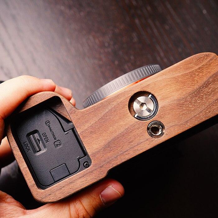Walnut Wooden Wood Hand Grip Plate Bracket For Sony a9 A7m3 A7RIII ILCE 7RM3 A7R MKIII