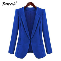 Autumn Trendy Solid Color Women Business Formal Office Thin Blazer Work Wear Casual Chiffon Draped Lady