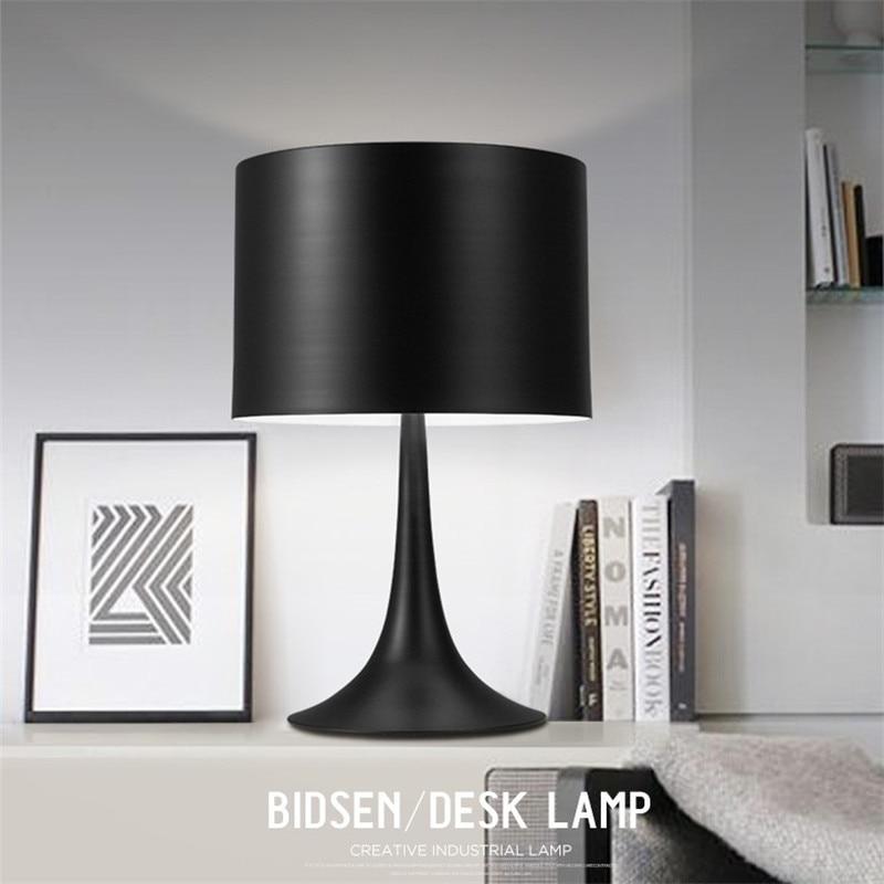 L26-Nordic Style Creative Bedroom Bedside Table Lamp European Lamp Gentry Desk Light Decorative Table Lighting White/Black Color