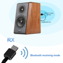 Portable Mini 2 in1 Bluetooth 5.0 Transmitter Receiver 3.5Mm Aux USB Wireless Stereo Audio Adapter For Home Tv MP3/4 Pc Car bluetooth 4 2 transmitter receiver 2 in 1 universal wireless audio adapter for phone pc home tv stereo 3 5mm audio usb