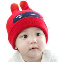 New Fashion Kids Winter Neck Warmer Caps Winter Baby Hat Cartoon Style Ear Crochet Knitted Caps