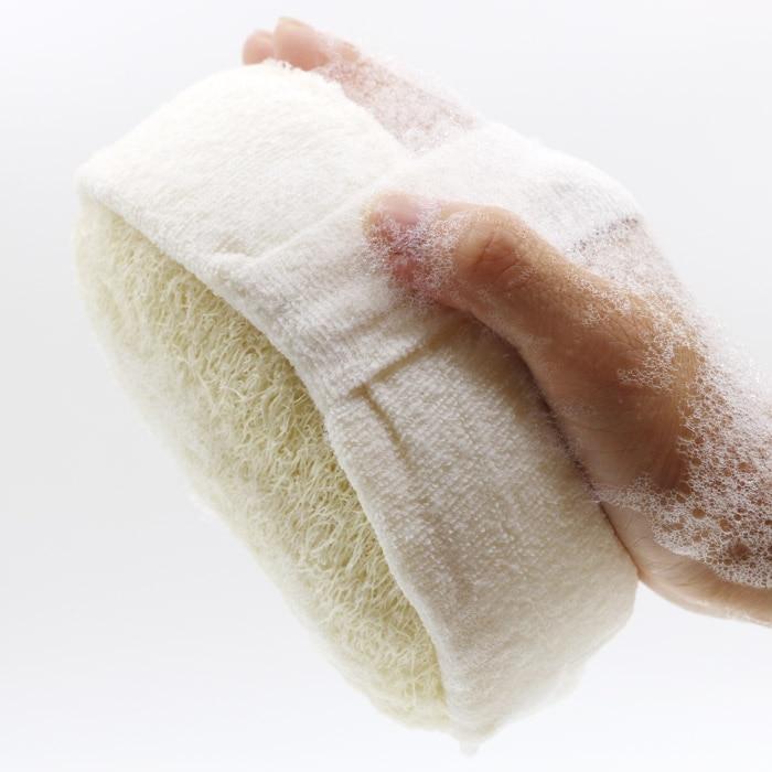 Natural loofah rubbing wipes back rubs bath loofah rubbing bath towel to rub mud thickening sponge bath ball