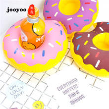 Hot Sale Doughnut Cup Holder Inflatable Water Coaster Floating High Quality Drink Swimming jooyoo