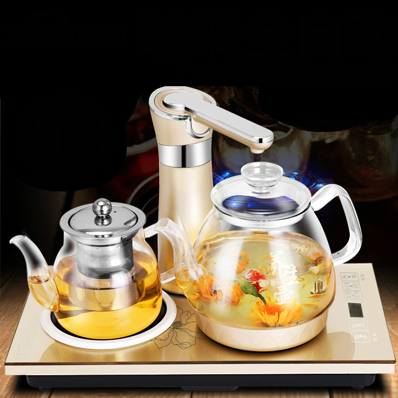Automatic upper water bottle/electric kettle/kettle glass filled with adnart flavour it glass water bottle with fruit infuser