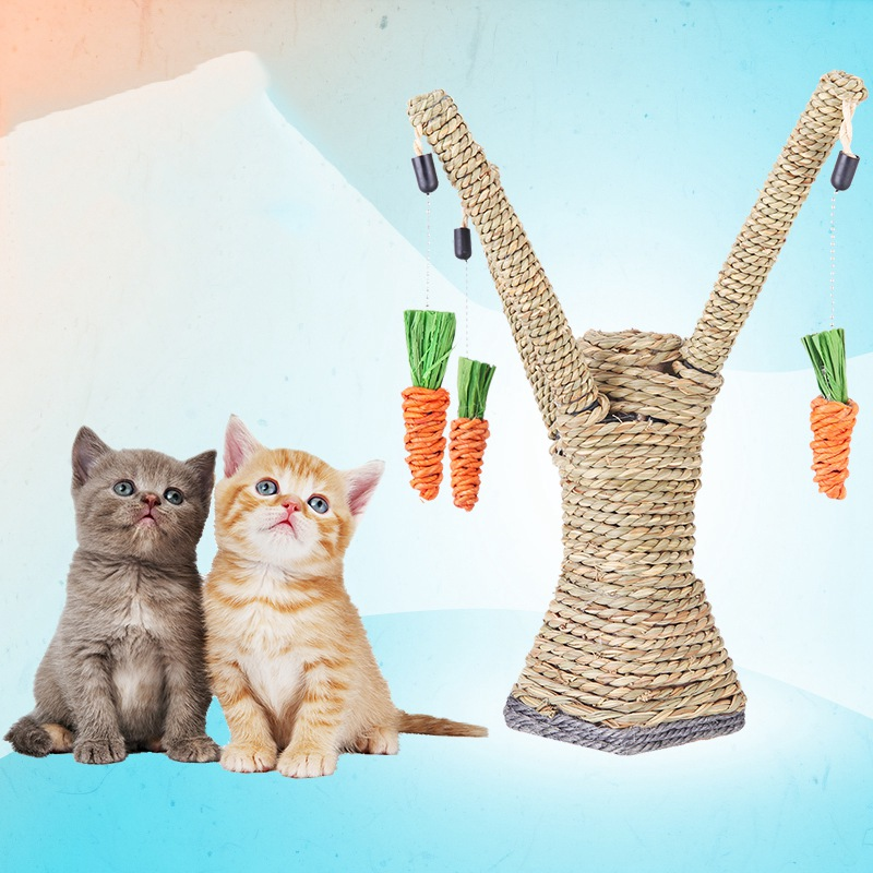 High Quality Cat Scratch Board Pet Teaser Toy Cat Scratching Tree Hanging Carrot Pet Kitten Chewing Play Activity 10*8*27CM