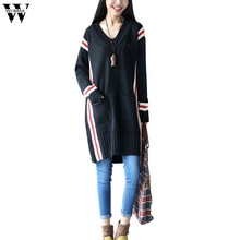Фотография WOMAIL O-neck Twisted Flower Sweater Women large size casual print dress thin Plain-color long sleeve knitted blouse Sept27