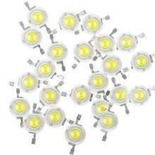 100 шт Высокая мощность 1 Вт 3,2 В 3,4 мА/2 Вт~ 3 Вт в ма холодный белый теплый белый нейтральный белый светодиодный светильник