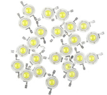 100pcs/lot  High Power 1W 3W Cool / Warm White 200~260LM LED Bead Diodes Light Lamp