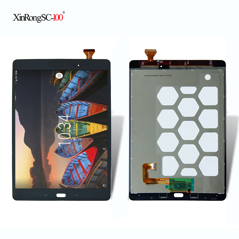 LCD Display Touch Screen Digitizer Sensors Assembly Panel For Samsung Galaxy Tab A 9.7 SM-T550 SM-T551 SM-T555 T550N T555 T551 new 8 for samsung galaxy tab a p350 lcd display with touch screen digitizer sensors full assembly panel lcd combo replacement