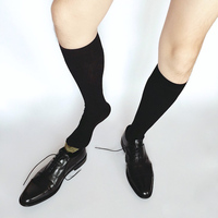 SORRYNAM New Mens Silk Socks Formal Suit Dress Hose Sexy Sheer Man Gay Collection Fetish Business