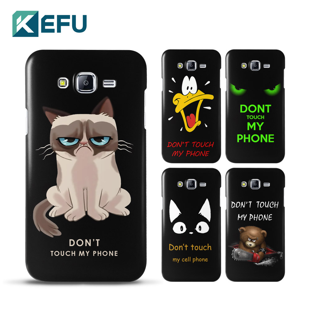 for coque samsung j7 case don 39 t touch me pc cover for. Black Bedroom Furniture Sets. Home Design Ideas
