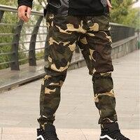 Nova forma de chegada dos homens obesos macacão de Camuflagem calças casuais soltos feixe pant plus size XXL 3XL 4XL 5XL 6XL 7XL 8XL